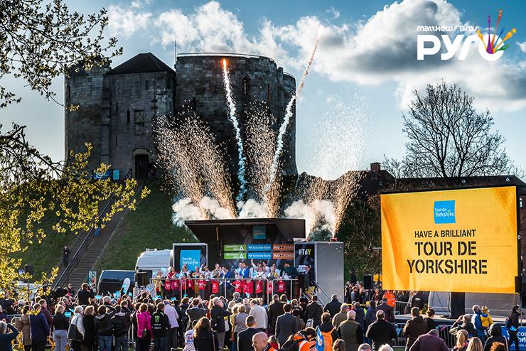 Stage Pyrotechnics Tour de Yorkshire